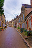 Narrow Street in Vezelay in Bourgogne Franche Comte in France