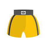 Boxing shorts isolated. boxer Clothing for athlete on white back
