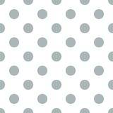 Seamless polka dot gray
