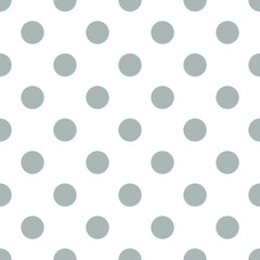 Seamless polka dot gray