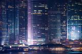 Hong Kong business district