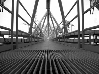 Fototapeta czarno biała platforma