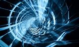 Fototapeta  - 3D Space tube © zeber