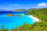 Caribbean,Trunk Bay on St John island, US Virgin Islands - 128081353