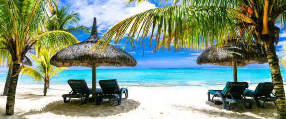 relaxing  tropical holidays. Luxury vacation in Mauritius island