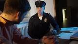 COP USA talking to a criminal defendant