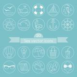 Sea vector icons. Happy Summer.