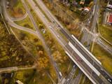 Skrzyżowanie dróg z drona