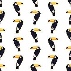 endless pattern of toucans