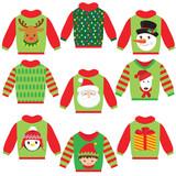 Christmas sweater vector cartoon illustration