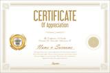 Certificate template retro design background