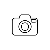 camera media photo digital line icon