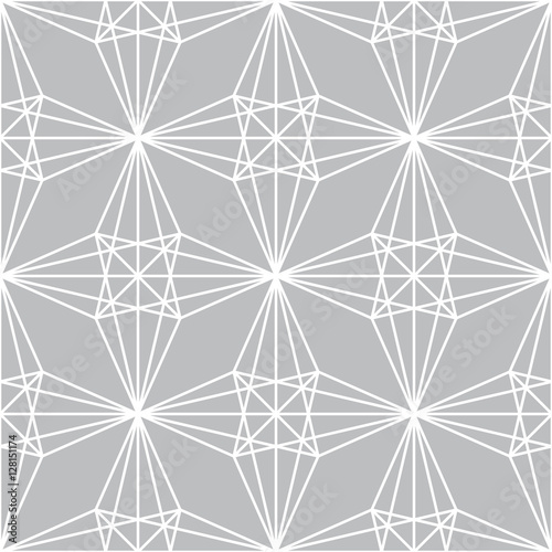 Abstract geometric gray graphic design unique pattern - 128151174