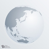 Global Map_Asia, Earth #Vector Graphic