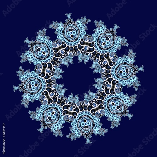 Fabulous openwork pattern in the form of snowflakes or lace napk