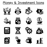 Financial Investment icons set