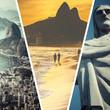 Quadro Collage of Rio de Janeiro (Brazil) images - travel background (m