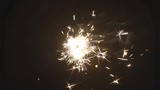 Sparkler Over Black background. Slow Motion.