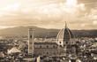 Quadro Florence cityscape with Duomo Santa Maria Del Fiore