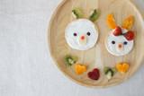 Easter Bunny pancake breakfast, fun food art for kids