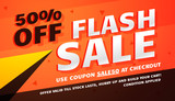 flash sale promotional banner template for marketing