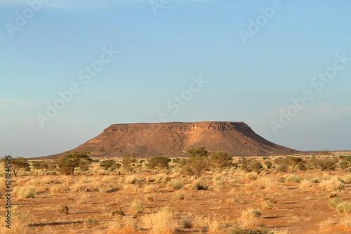 Poster Die Wüste Sahara im Sudan in Afrika