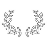 Leaves wreath icon. Plant floral garden decoration and ornament theme. Isolated design. Vector illustration
