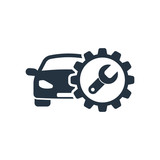 auto service, isolated icon on white background, auto service, c