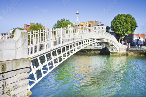 "The most famous bridge in Dublin called ""Half penny bridge"" Poster"