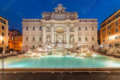 Valokuva Trevi fountain at sunrise, Rome