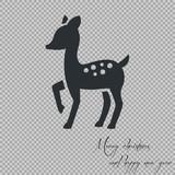 Fototapety merry christmas Bambi icon