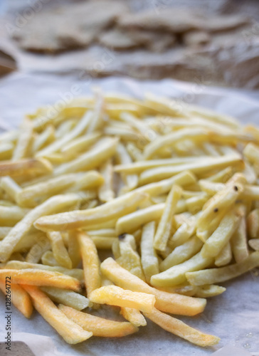 Poster stick french fries