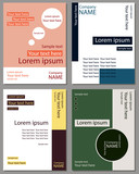 A set of cards for text. The corporate style. Colored covers, letterheads, leaflets, flyers.