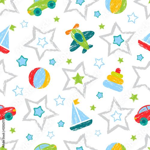 streszczenie-wzor-dla-dziewczat-chlopcow-ubrania-tworczy-tlo-z-pilka-figur-geometrycznych-gwiazd-samochodow-samolotow-smieszna-tapeta-dla-wyrobow-wlokienniczych-i-tkaniny-moda-styl-kolorowy-jasny
