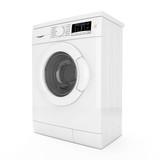 Modern Washing Machine. 3d Rendering