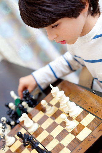 Poster boy and chess