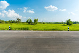 Fototapety Side view of asphalt road isolated on white background.  This has clipping path.