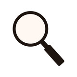 monochrome silhouette of magnifying glass vector illustration