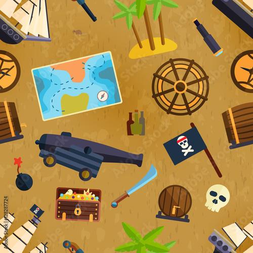Materiał do szycia Pirate seamless pattern