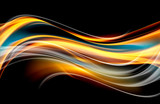 Orginal Gold Orange Wave Design Background - 128332588