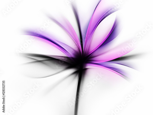 Purple Flower Design Abstract Background