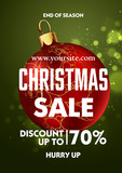 Christmas sale design poster template