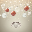 Vector Christmas Greeting Card with Baubles
