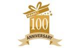 100 Years Gift Box Ribbon Anniversary