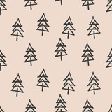seamless christmas tree pattern - 128358551