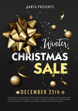 Christmas sale background. Vector illustration