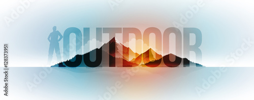 Deurstickers Lichtblauw Outdoor Concept Design