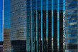 An abstract view of the city architecture of Minneapolis, MN, USA