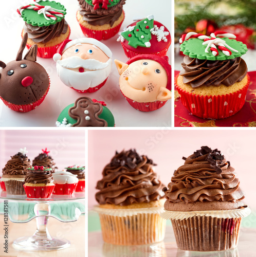Poster variation of festive mini dessert cupcakes