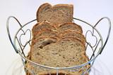 Hogazas de pan Preparadas para ser servidas en la mesa.